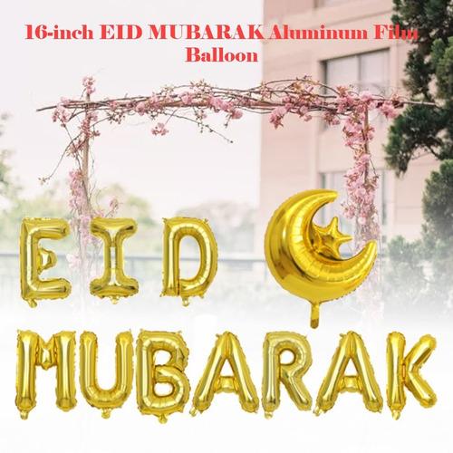 16 pulgadas eid mubarak globo decoración de vacaciones de al