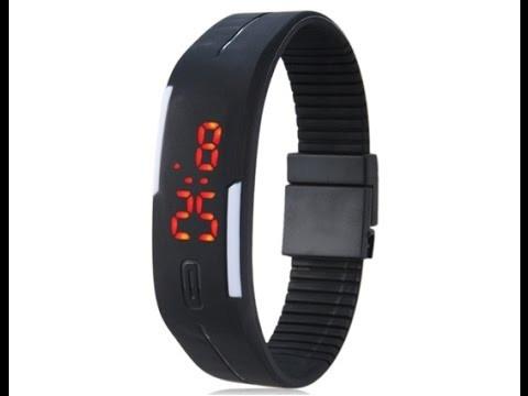 41d8f357ab9 16 Relógio Pulseira Digital Led Academia Corrida Unissex Top - R  209