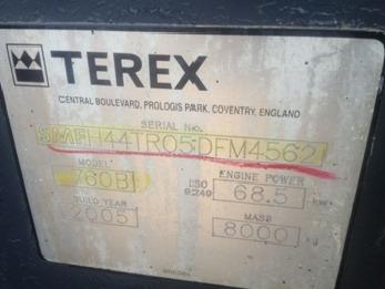 16) retroexcavadora terex 2004 760 b 4x4