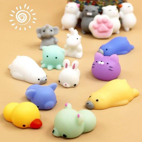 16 squishy mochi animals anti stress toys c/ bolsita kawaii