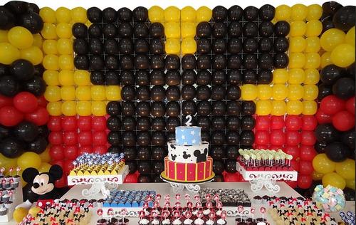 16 tela mágica pds painel de balões bexigas bolas festas kit