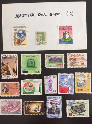 16 timbres america central y del sur