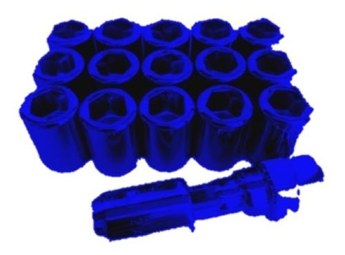 16 tuercas 12x1.25 tunner deportivas rojo y azul + (1 llave)