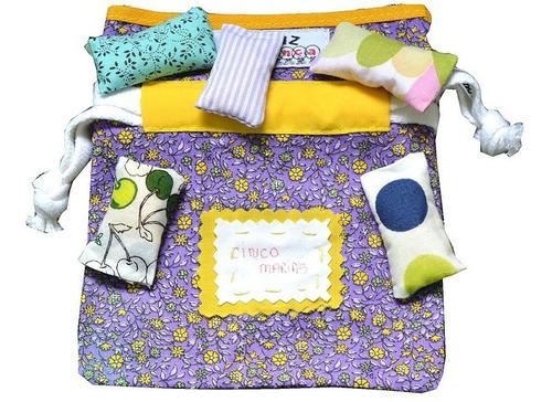 16 unidades 5 marias/5 manés tecido saquinho - frete gratis