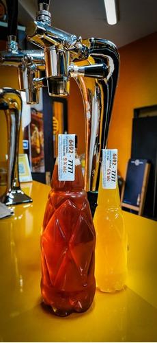 $16 x mayor, botella cerveza pet litro, muy rígida, con tapa