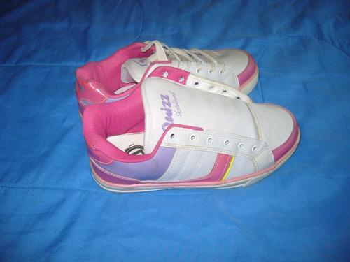 160 x tênis colorido feminino nº 39 quizz skateboard