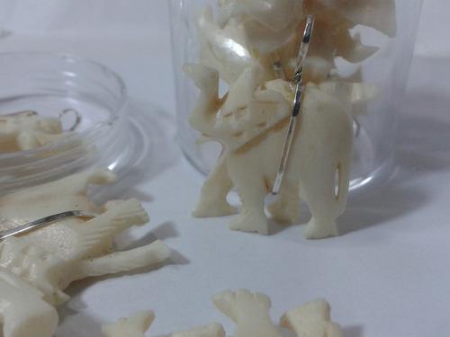 161 se vende exc. elefante tallado de la india en plata 950