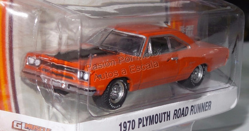 1:64 plymouth road runner 1970 greenlight gl muscle