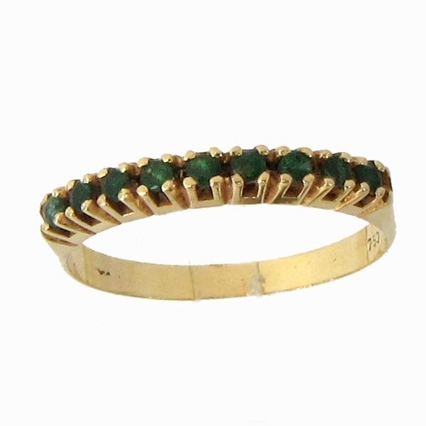 bb58d43bf0a4d 1658 Meia Aliança Esmeralda Ouro 18k Esmeraldas - R  373,00 em Mercado Livre