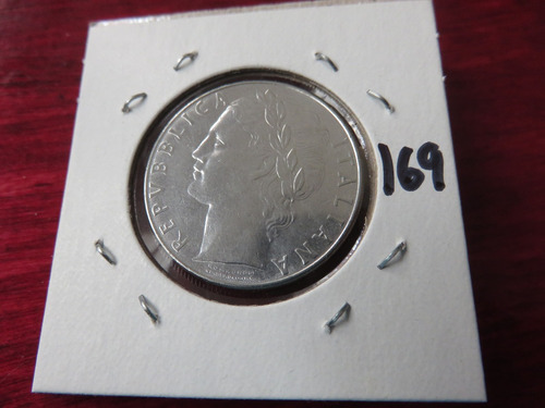 #169  moneda del mundo italia 100 liras 1980