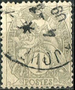 1693 francia  gris angel querubin 1c usado 1900-29