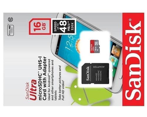 16gb sandisk cartão micro