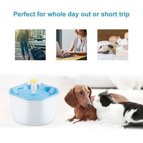 1.6l automático perro gato agua fuente usb puerto para masco