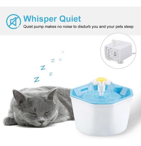1.6l perro automtico gato fuente de agua puerto usb pet