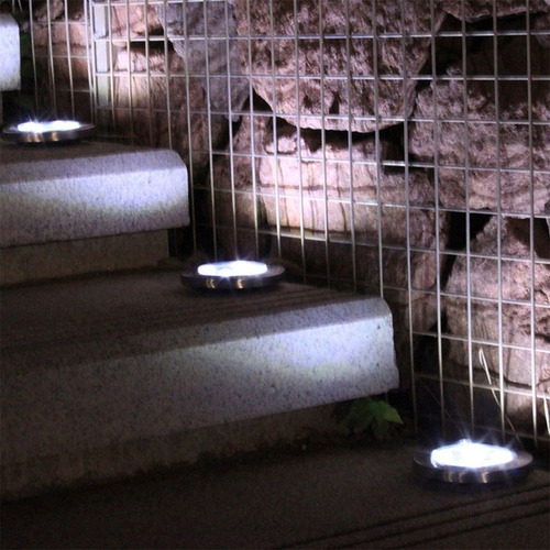 16led solar luz solo lamp disco luzes à prova d'água gar