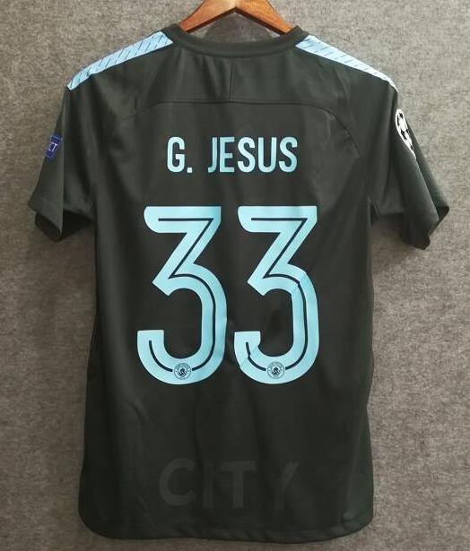 17-18 Camisa Manchester City Third G. Jesus   33 - R  134 6ca321fc22cf4