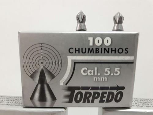 17 cxs chumbinho torpedo 5.5 para carabina puma qgk fixxar