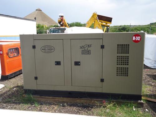 17) generador de luz north power 50kw 75 kva 127/220v nueva