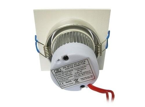 17 lâmpada super led 3w spot quadrado embuti quente frio