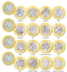 17 moedas olimpíadas coleção completa fc+ brinde bacen50anos