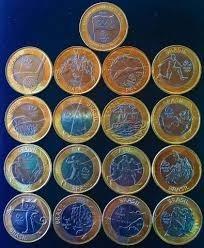 17 moedas olimpíadas coleção completa fc+ brinde estojo