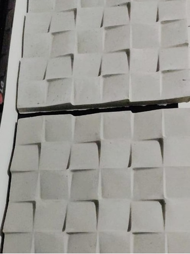 17 placas 3d prisma cimentícia alto relevo área externa