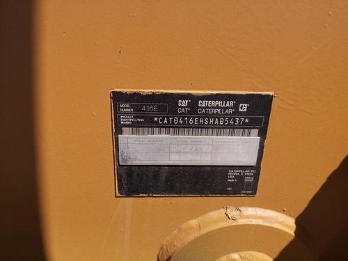 17) retroexcavadora caterpillar 416e 4x4 extension 2008