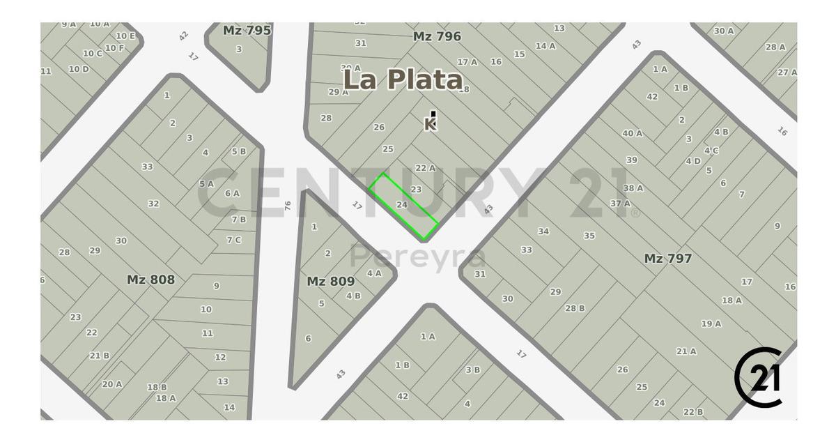17 y 43 la plata, lote terreno ideal desarrollo inmobiliario excelente indicador