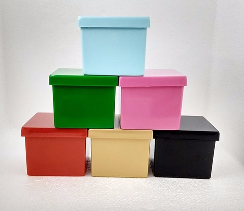 170 caixinha de acrílico 5x5x4,3cm - mini caixa várias cores