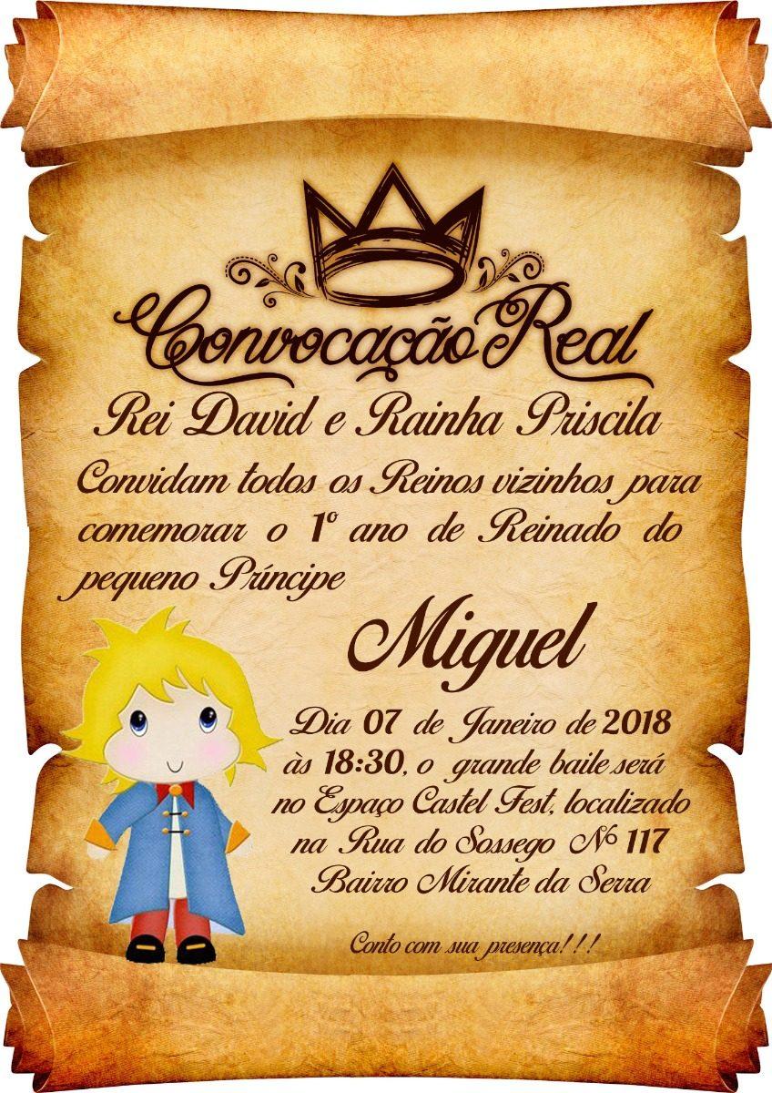170 Convite Pergaminho Pequeno Príncipe - R$ 204,00 em Mercado Livre