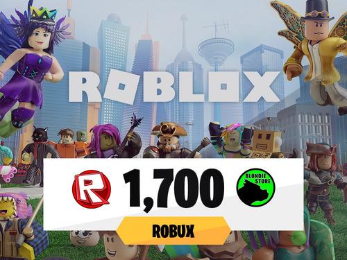 1700 robux roblox @ todos los días on @ mercadolider