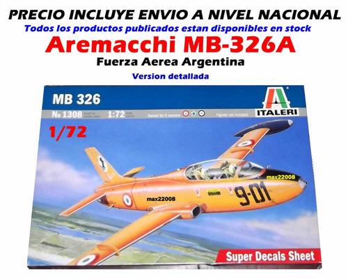 1/72 avion aermacchi 326 sukhoi mig tanque mi 8 barco auto