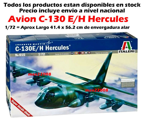 1/72 avion c 130 hercules tanque mirage pintura mig sukhoi