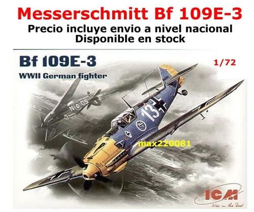 1/72 avión messerschmitt bf 109 e 3 barco sukhoi mirage auto