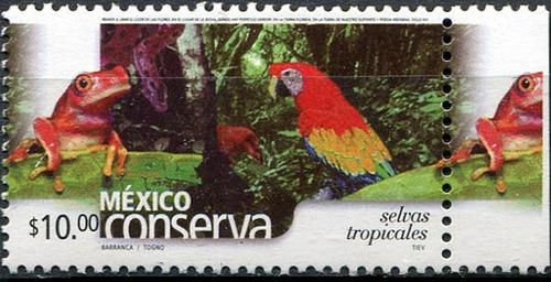 1744 conserva scot #2373 selvas tropicales 10p mint n h 2004