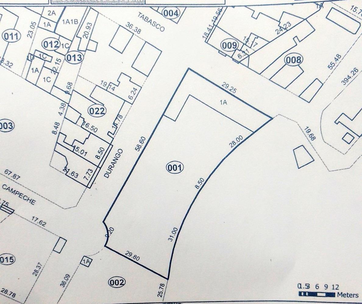 1744 m2. se venden como terreno, con barda, super ubicado
