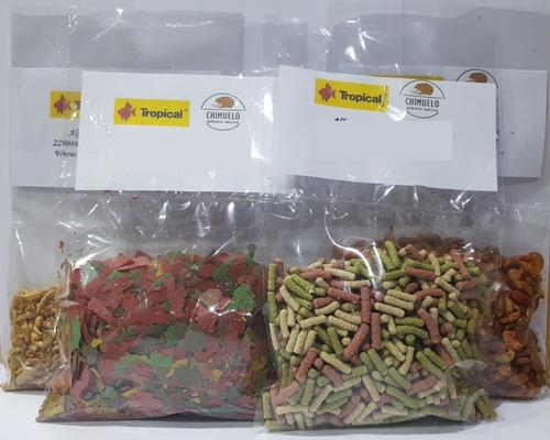 18 bolsas de camaron tortuga tropical + envio gratis