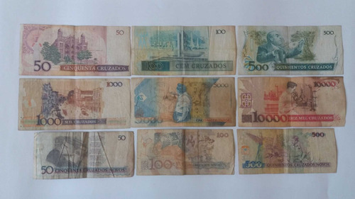 18 cédulas de dinheiro - notas antigas frete grátis cod:14
