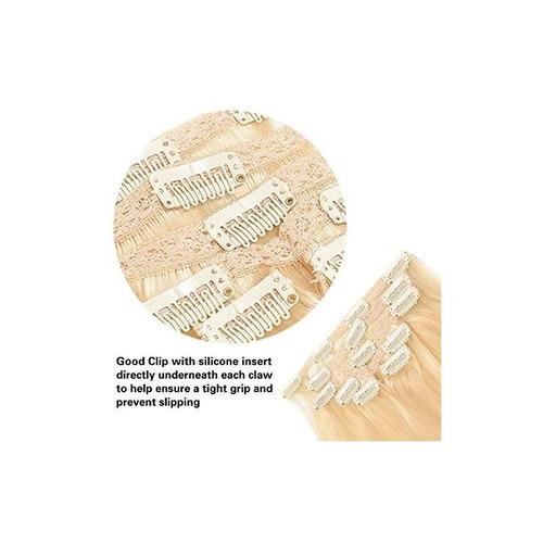 18 clip en extensiones de cabello humano remy bleach blonde
