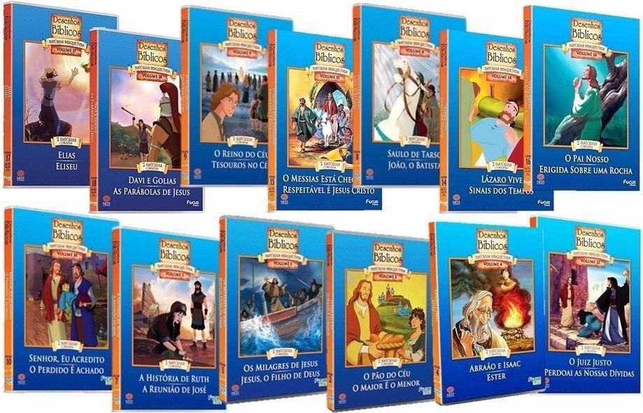 18 Dvd Desenhos Biblicos Classicos Dublado Frete Gratis R 85