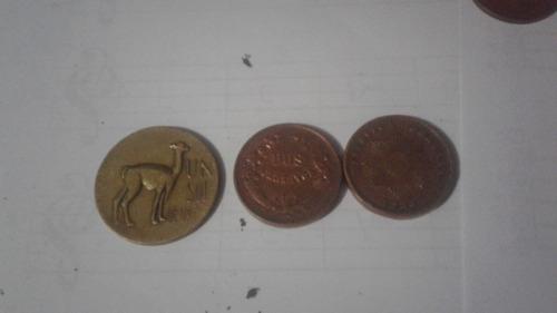 18 monedas peruanas antiguas