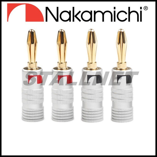 18 plug banana nakamichi original receiver caixas acusticas
