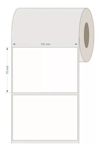18 rolos etiqueta couche 100x70mm ou 10x7cm