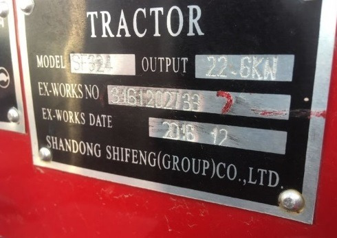 18) tractor agricola 30 hp shifeng 4x4