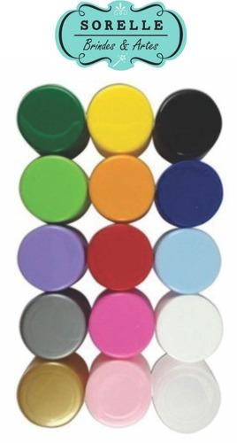 180  caixinha redonda 6x4 de acrílico para festa colorida