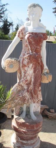 180 cms . escultura mármol -  bicolor