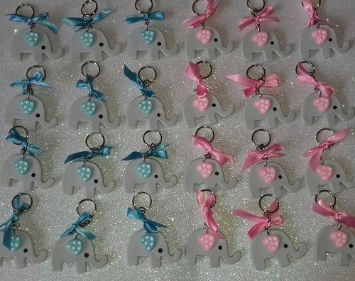 180 llaveritos+150 distintivos elefantes baby shower