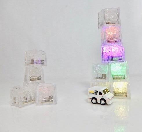 180 pzas. led rgb colores tipo hielo sumergible