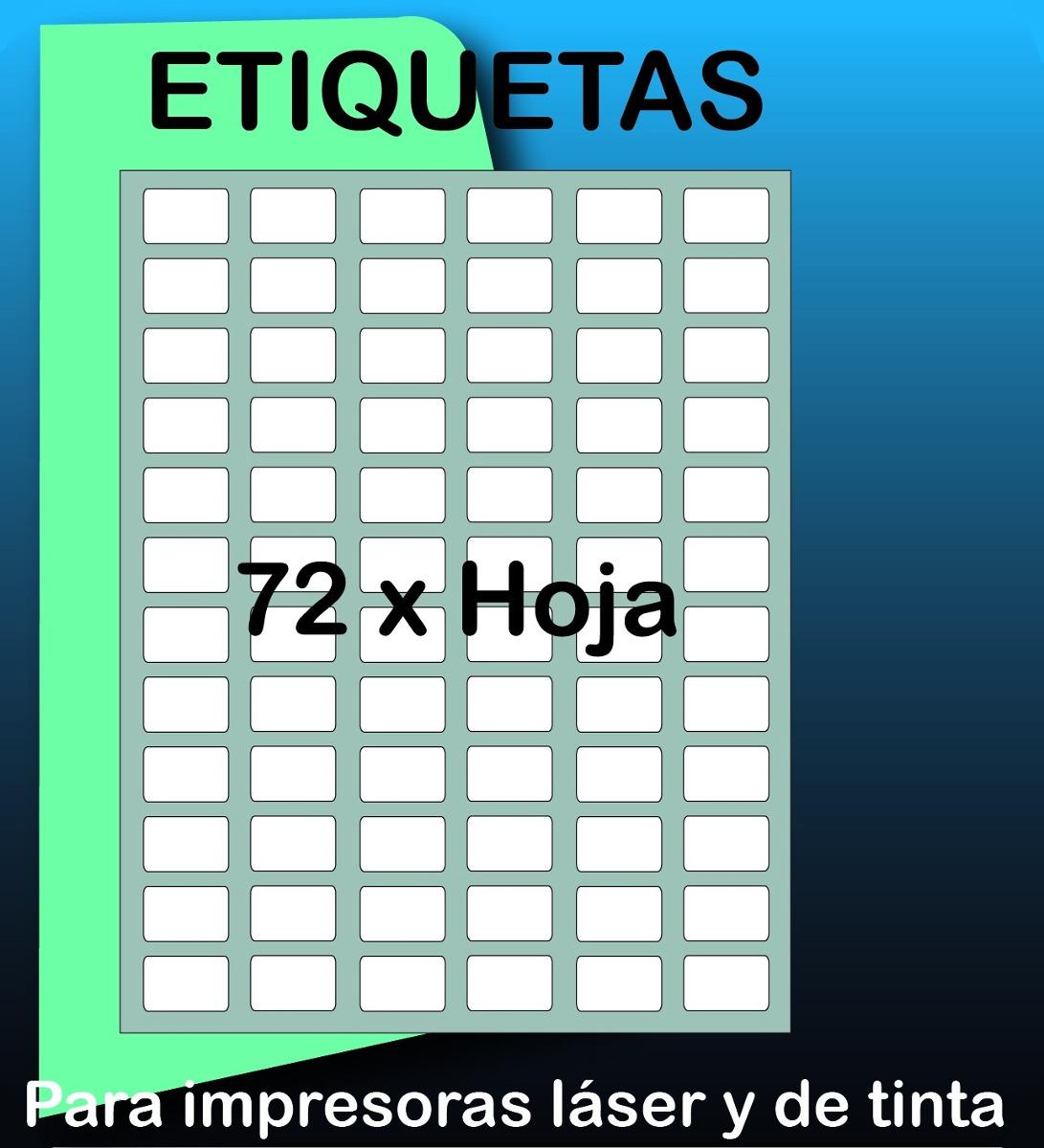 1800 Etiquetas Autoadhesivas De 3 X 2 Cm Precortadas - Bs. 488,00 en ...