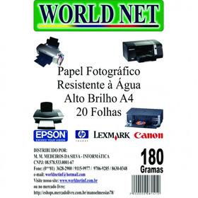 1.800 Folhas De Papel Foto 180grs - A4 - Limoeiro - Messias!